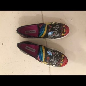 Steve Madden crystal graffiti loafers sneakers